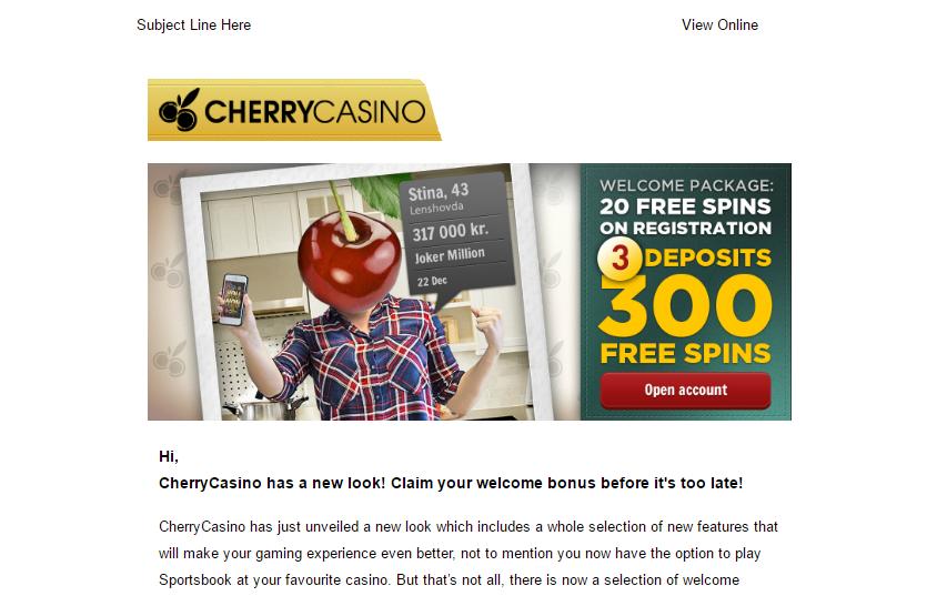 mailers comeonconnect com cherryaffiliates com